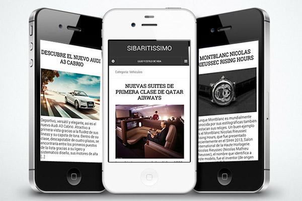 Disponible la versión para móviles de Sibaritissimo